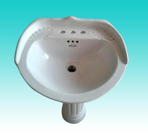 华夏卫陶—洗脸盆(立柱式)3号 500x440x190(mm)