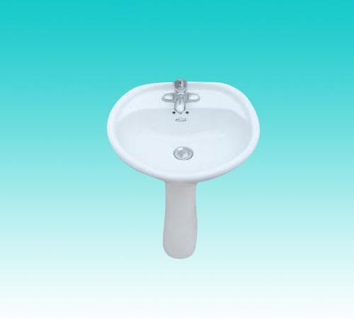 华夏卫陶—洗脸盆(立柱式)2号 410x400x180(mm)