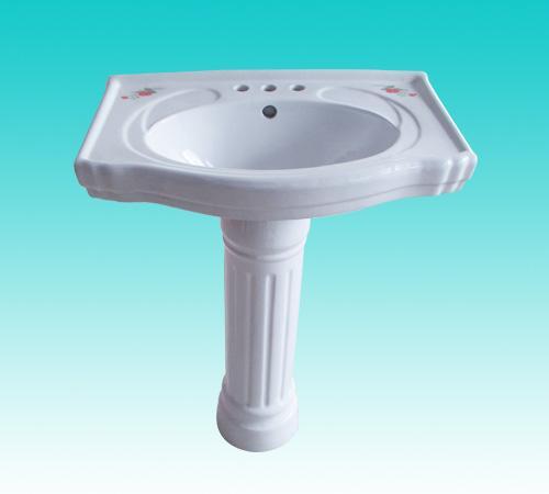 华夏卫陶—洗脸盆(立柱式)1号 600x420x200(mm)