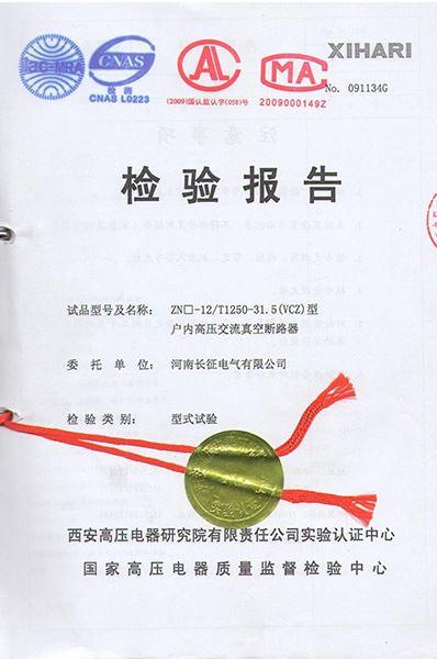 ZN□-12/T1250-31.5(VCZ)檢驗報告