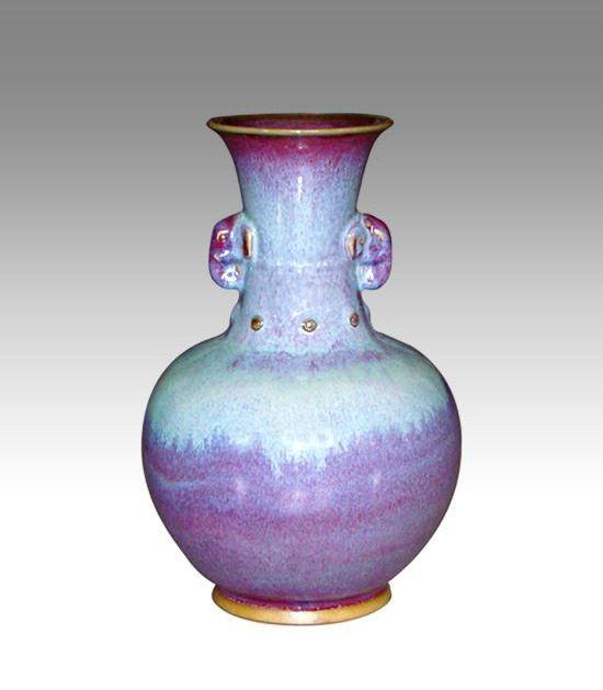 钧瓷之乳丁象耳瓶系列