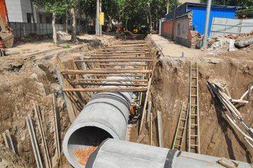 市政雨污水管網工程施工現場