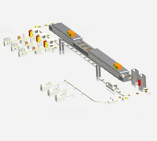 河南全自動工業月餅烤箱生産線