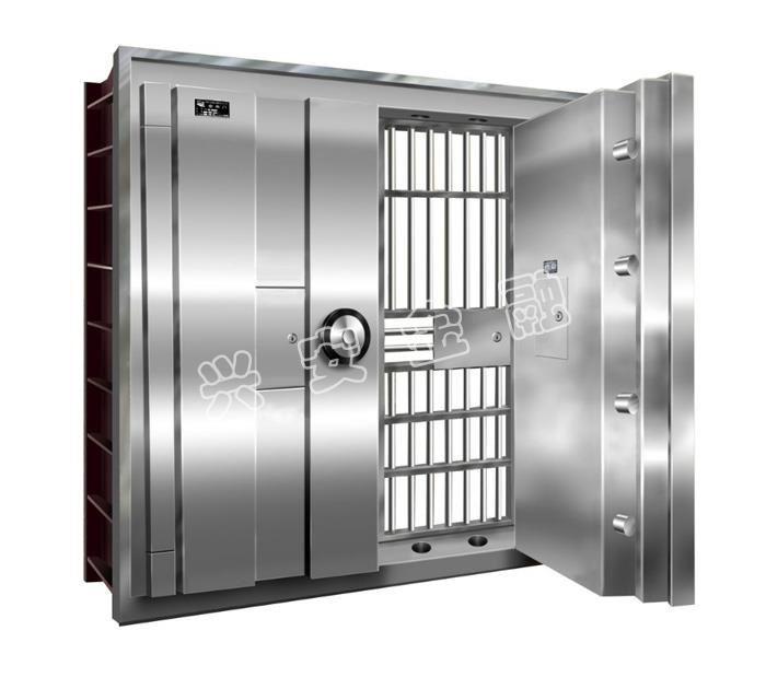 帶日閘門的金庫門