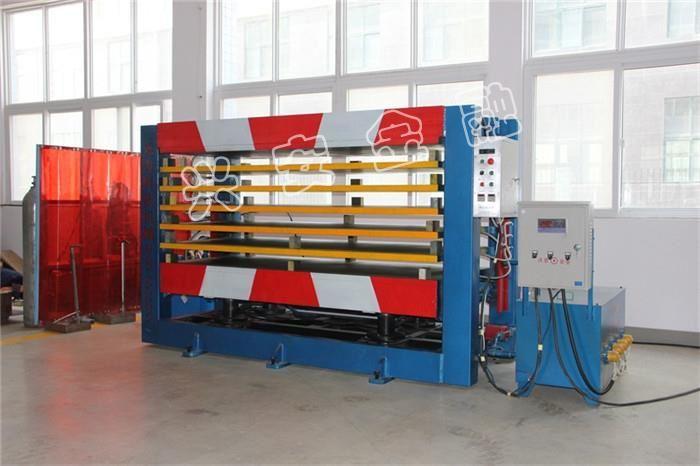 河南興安金融防護熱壓膠合機生產設備