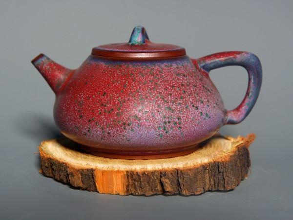 柴烧石瓢壶