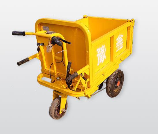 黄色手推工程电动车