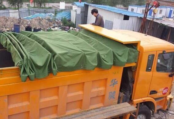 自卸車篷布安裝成功案例