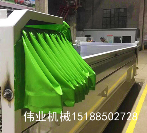 自卸车圆钢钢丝绳传动伸缩篷布